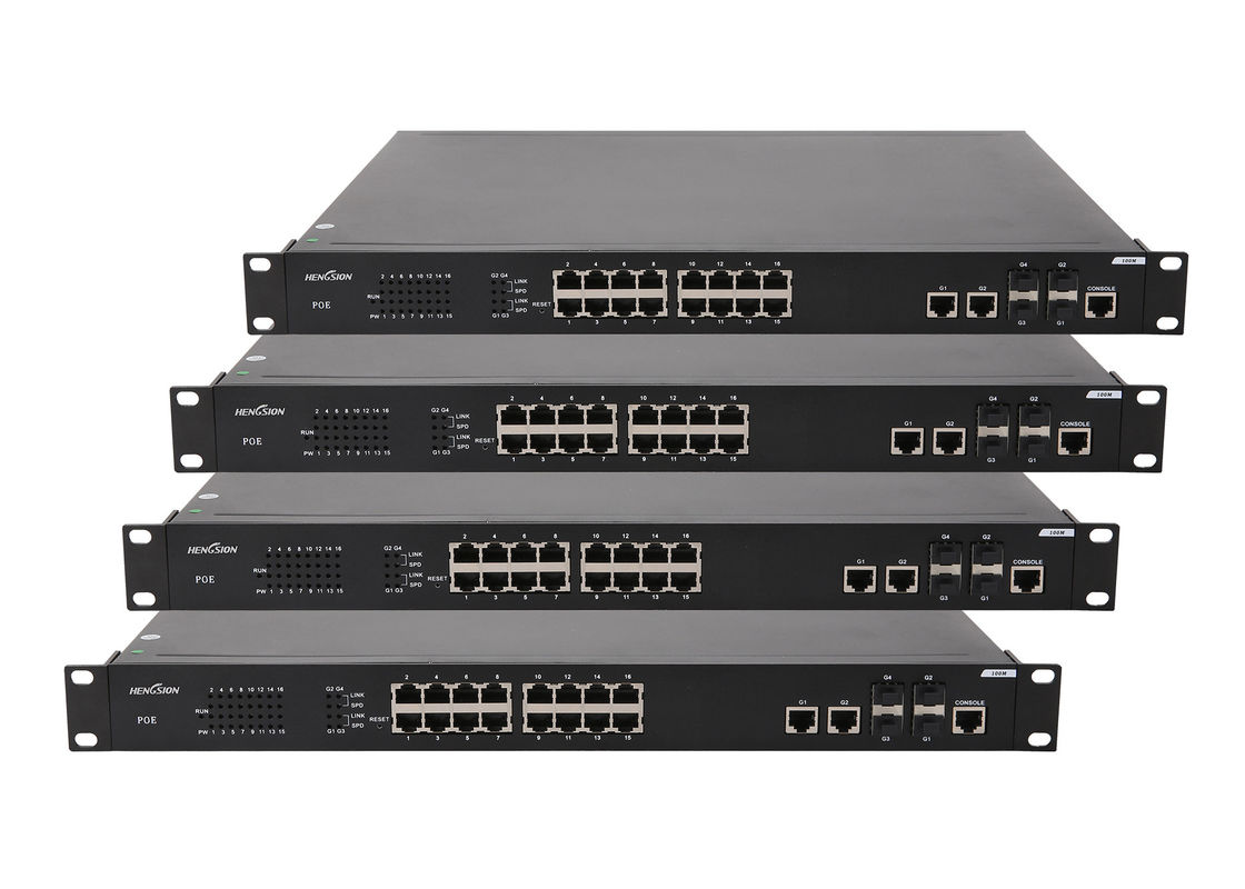 1000 Base - X SFP port POE powered network switch , 20 port ethernet Switch Unmanaged