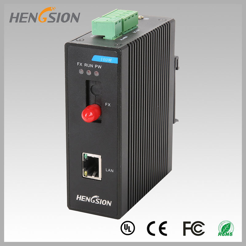 1 Electric Port And 1 Fx Industrial Managed Ethernet Switch , Din Rail Network Switch